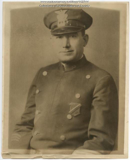 Anthony Petropulos in police uniform, Lewiston, ca. 1943