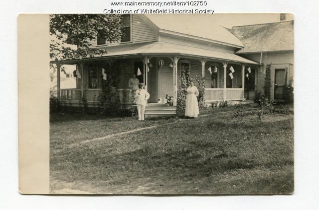 Sadie Gowen house, Coopers Mills, Whitefield, ca. 1910