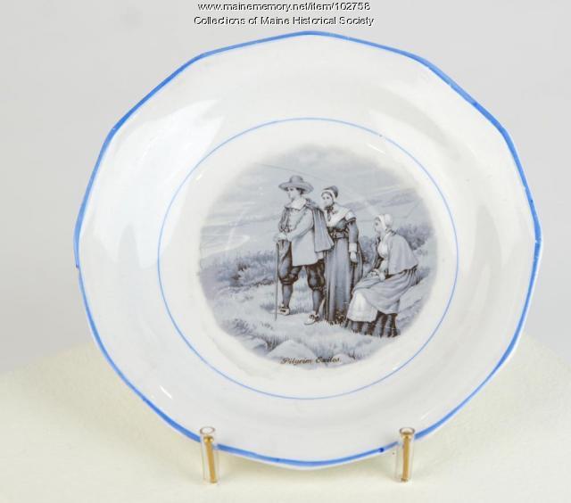 Longfellow tea set saucer, ca. 1900
