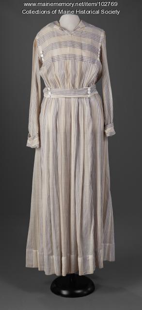 American dye-crisis dress, ca. 1917