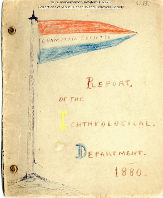 Champlain Society Report of the Ichthyological Department, Cambridge, 1880