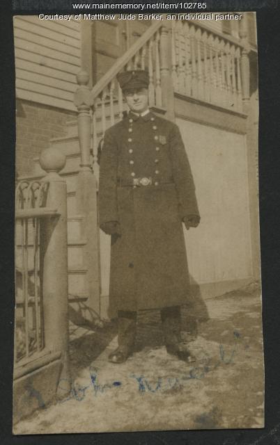 Portland police officer John Newell, ca. 1915