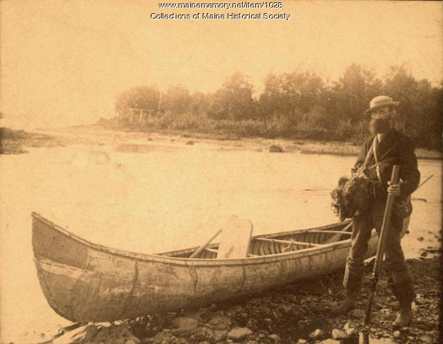 Dr. Jack on Moosehead Lake, 1883