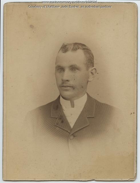 Portland milkman Peter W. Rowe, ca. 1900