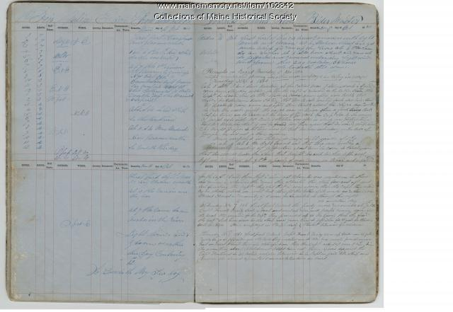 Remarks on board the Julia E. Arey, 1860