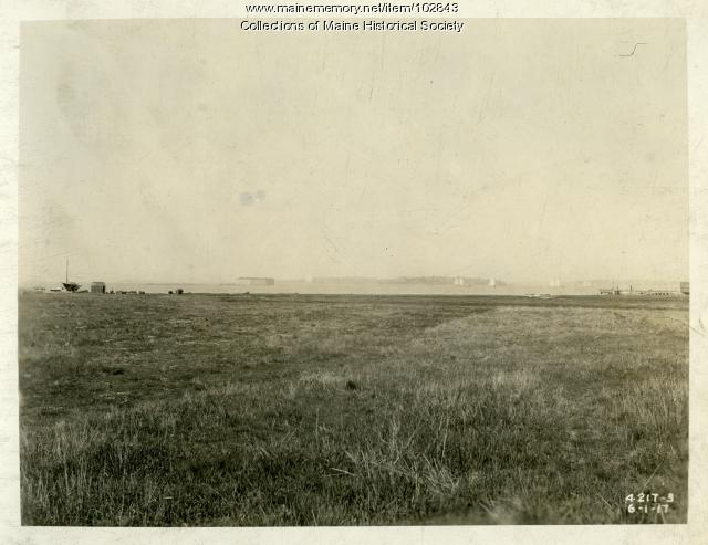 Future location of the Cumberland Shipyard, South Portland, 1917