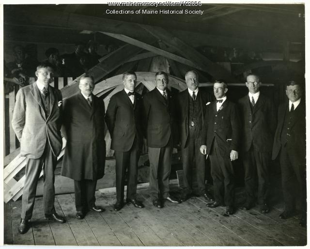 Businessmen at the Cumberland Shipyard, South Portland, ca. 1918