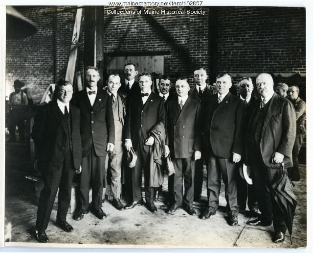 Executives at Cumberland Shipyard, South Portland, ca. 1918