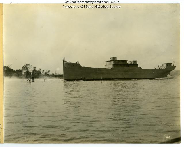 "Launch of the S.S. ""Belgrade,"" South Portland, 1918"