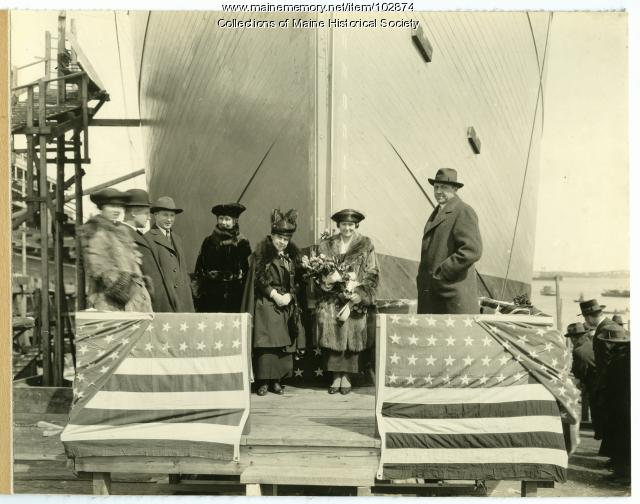 "Christening of the S.S. ""Orhom,"" South Portland, 1919"
