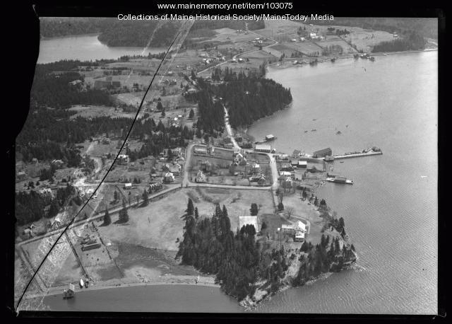 Aerial view of Campobello Island, ca. 1930