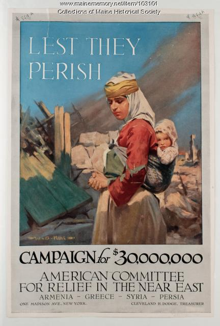 Lest They Perish World War I poster, ca. 1917