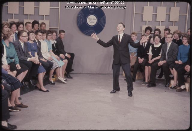 A Freeport High School student on The Dave Astor Show, Portland, 1962