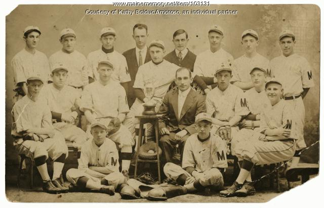 Metropolitans baseball team, Lewiston, 1914
