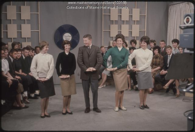 Lewiston High School students perform on The Dave Astor Show, Portland, 1962.