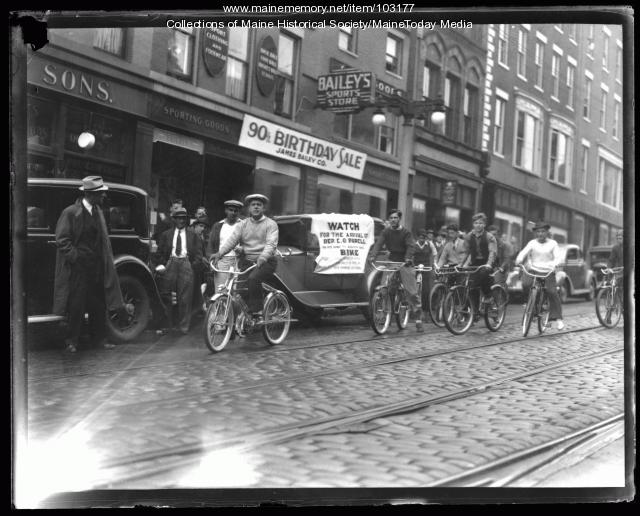 Ernest O. Porell bike ride, Portland, October, 1936