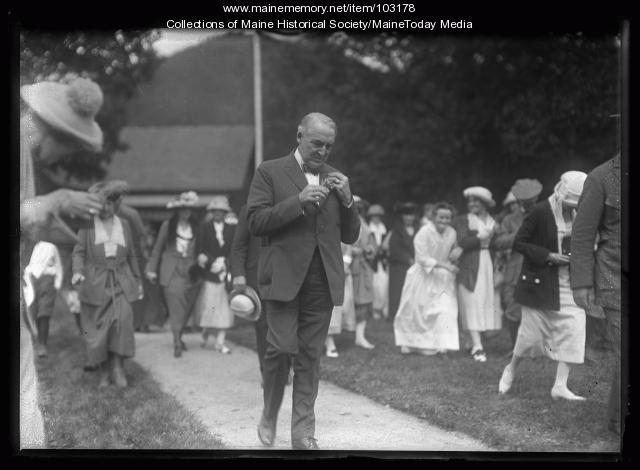 President Warren G. Harding, Crawford House, NH, August 1921