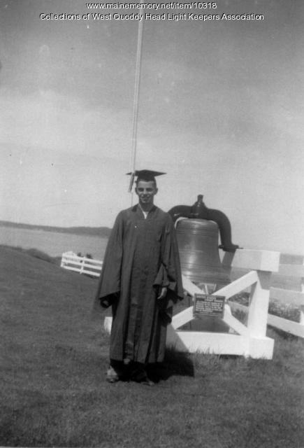 Bobby Gray, high school graduation, Lubec, 1951