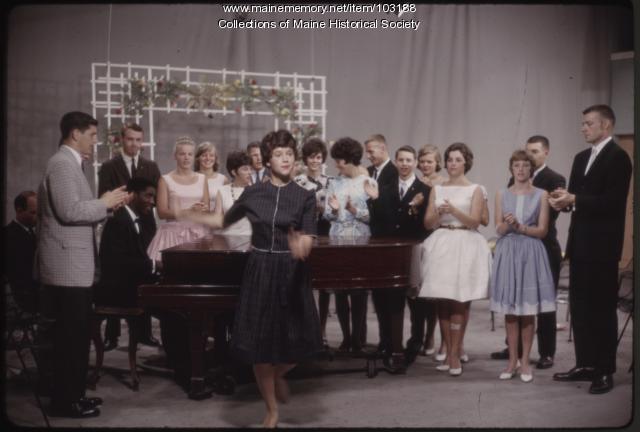 Series regular Lorraine Edwards on The Dave Astor Show, Portland, ca. 1962