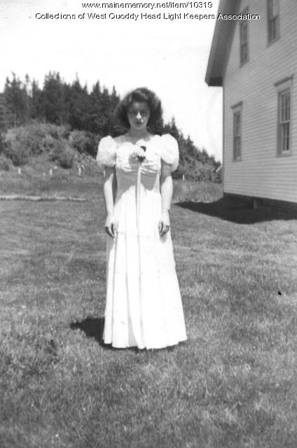 Carolyn Gray at the West Quoddy Head Lighthouse