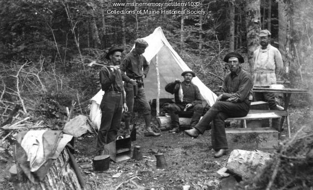 Camp Slapjack, Roach Pond, 1887