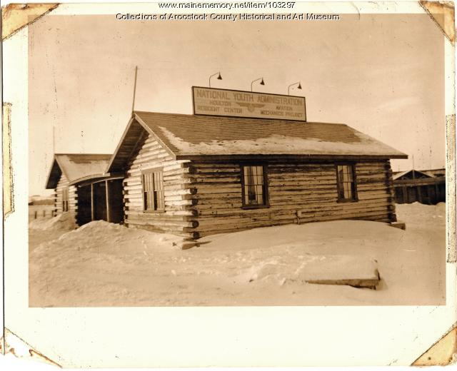 National Youth Administration cabin, Houlton, ca. 1940