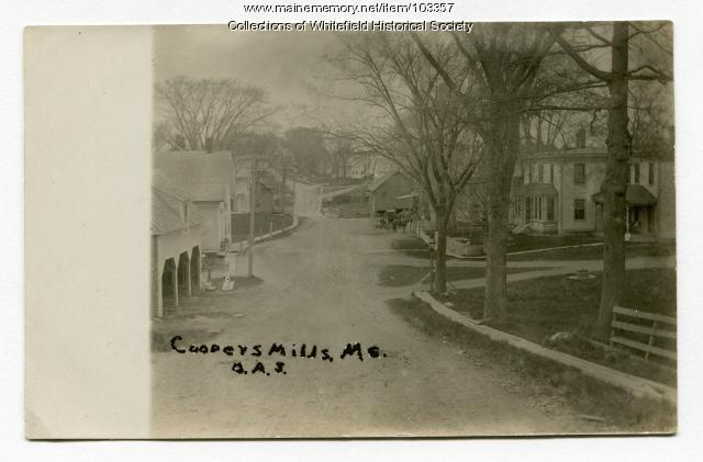 Main Street, Coopers Mills, Whitefield, ca. 1910