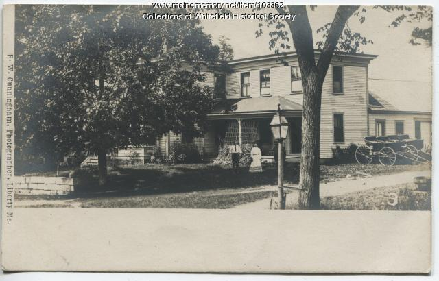 Charles and Etta Achorn, Coopers Mills, Whitefield, ca. 1907