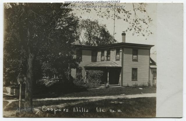 Charles F. Achorn house, Coopers Mills, Whitefield, ca. 1910