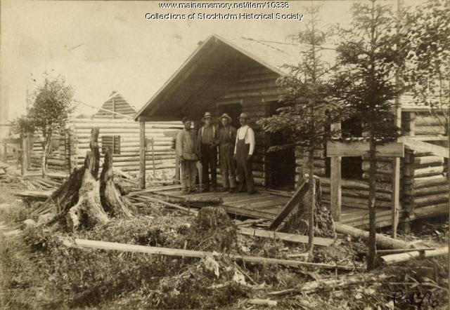 Photo of Log House, c. 1900