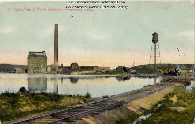 St. Croix Pulp & Paper Company, Woodland, ca. 1920