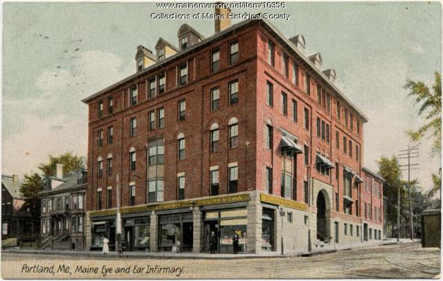 Maine Eye & Ear Infirmary postcard, 1907