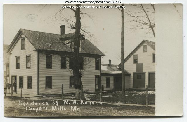 William Achorn house, Main Street, Coopers Mills, Whitefield, ca. 1910