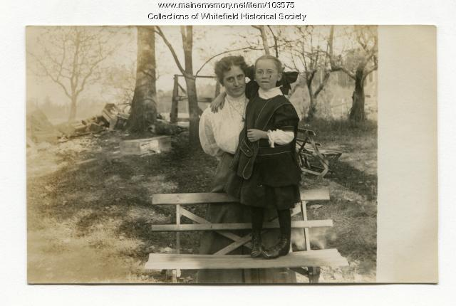 Ina Achorn Smith and daughter Ellen, Coopers Mills, Whitefield, ca. 1910