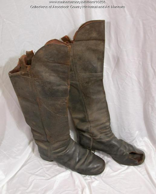 Captain Black Hawk Putnam's boots, 1862