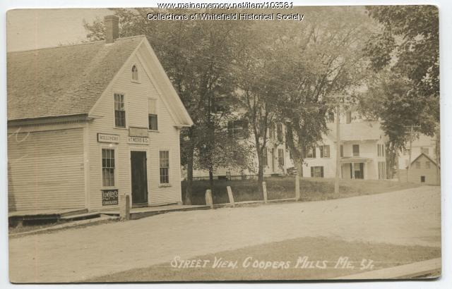 H. T. Weeks & Company store and post office, Coopers Mills, Whitefield, ca. 1910