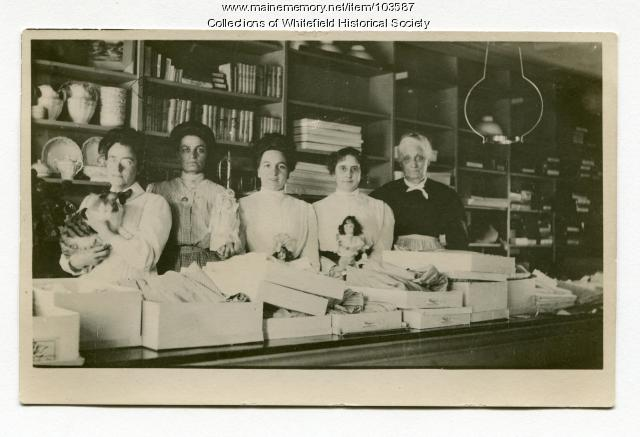 H. T. Weeks & Company female store employees, Whitefield, ca. 1910