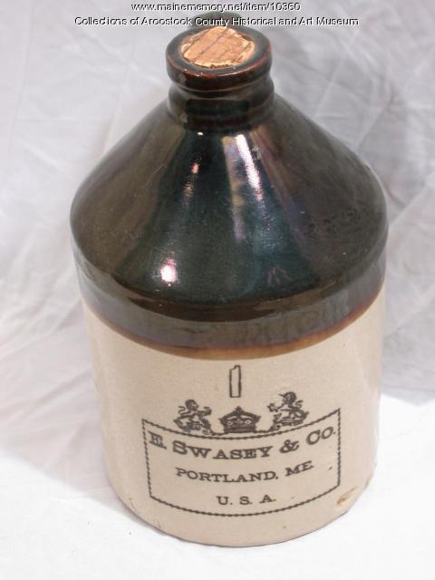 E. Swasey & Company molasses jug, Portland, ca. 1895