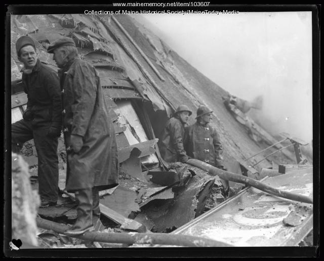 Destroyed building, Bath, ca. 1925