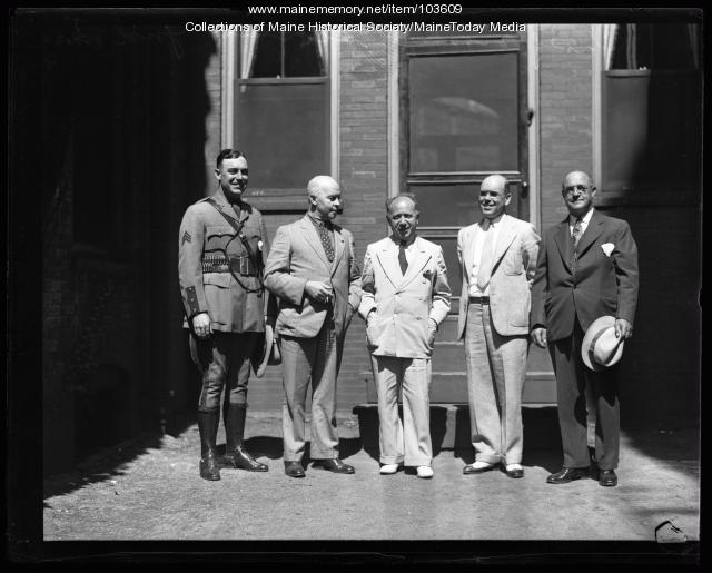 Chief Ralph D. Brooks Sr. and Scotland Yard Officers, Portland, ca. 1940