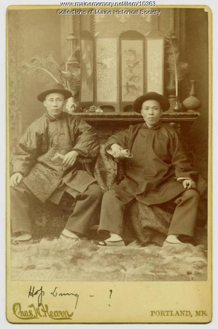 Chinese men in costume, Augusta, ca. 1890