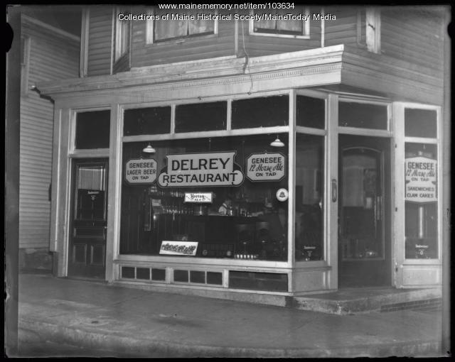 Delrey's Restaurant, Portland, 1934