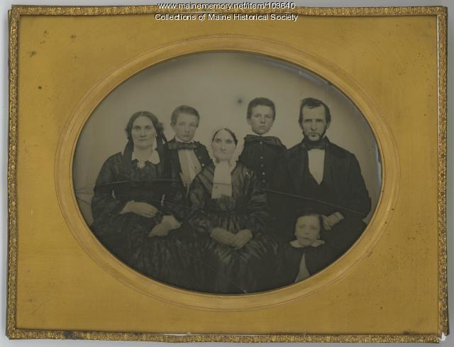 O.R. Patch family, Bangor, ca. 1865