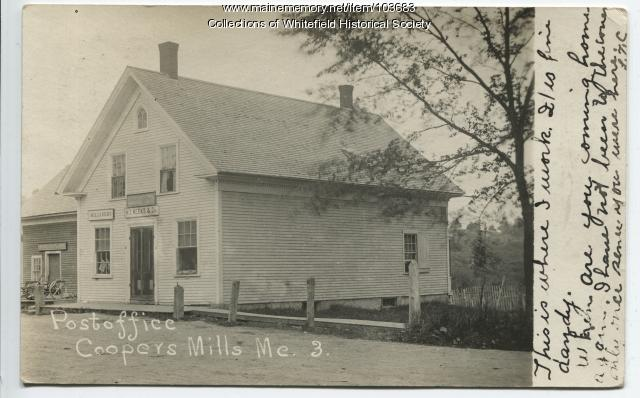 H. T. Weeks & Company store and Post Office, Whitefield, ca. 1910