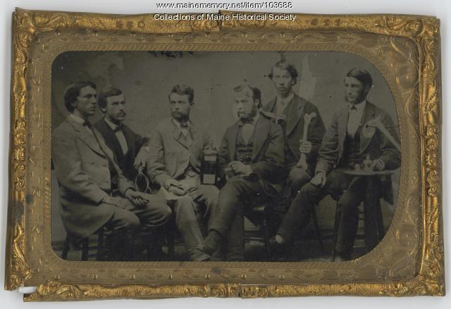 Bowdoin College medical students, Brunswick, ca. 1869