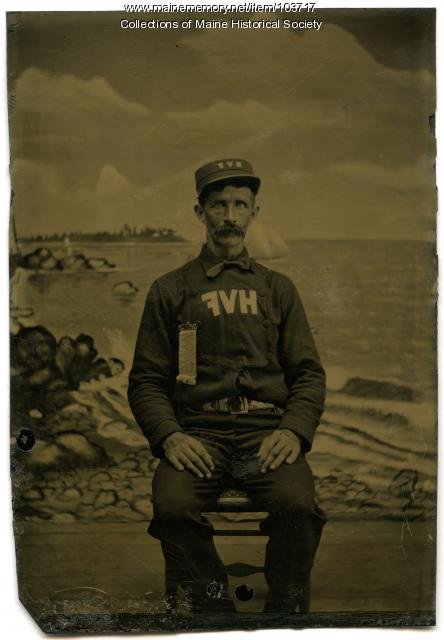 Volunteer fireman, Harpswell, ca. 1865