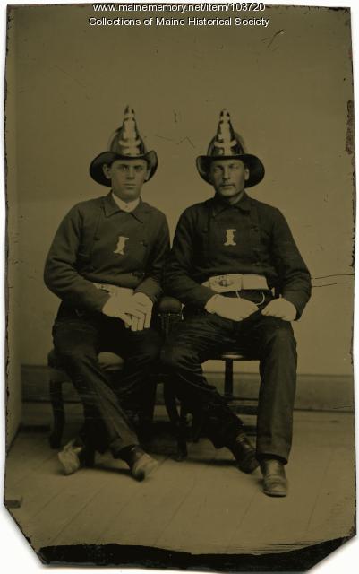 Two firemen, Vinalhaven, ca. 1865