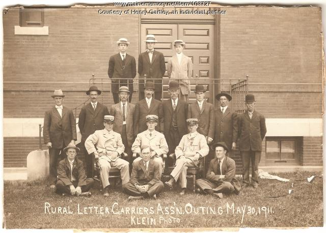 Rural Letter Carriers Association of Aroostook meeting, Houlton, 1911