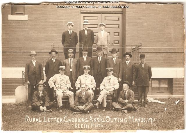 Rural Letter Carriers Association of Aroostook meeting, Houlton, 1911