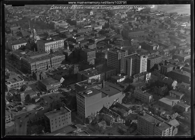 Downtown Portland, ca. 1936